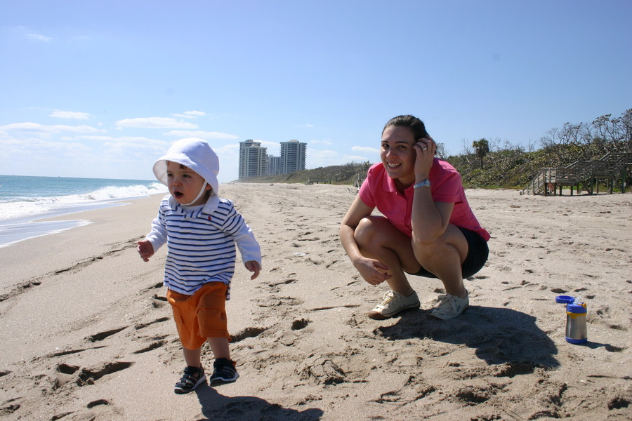 Graham & Regen at the beach