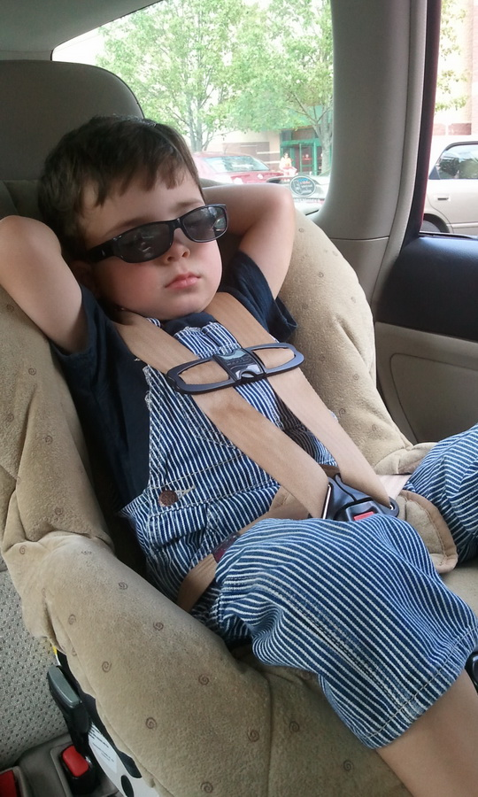 Snoozing in the car