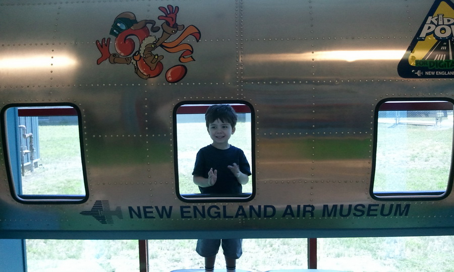 At the New England Air Museum