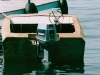 Stern view featuring rebuilt outboard